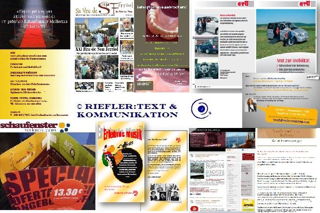B-to-B Texte, Content, Broschüren